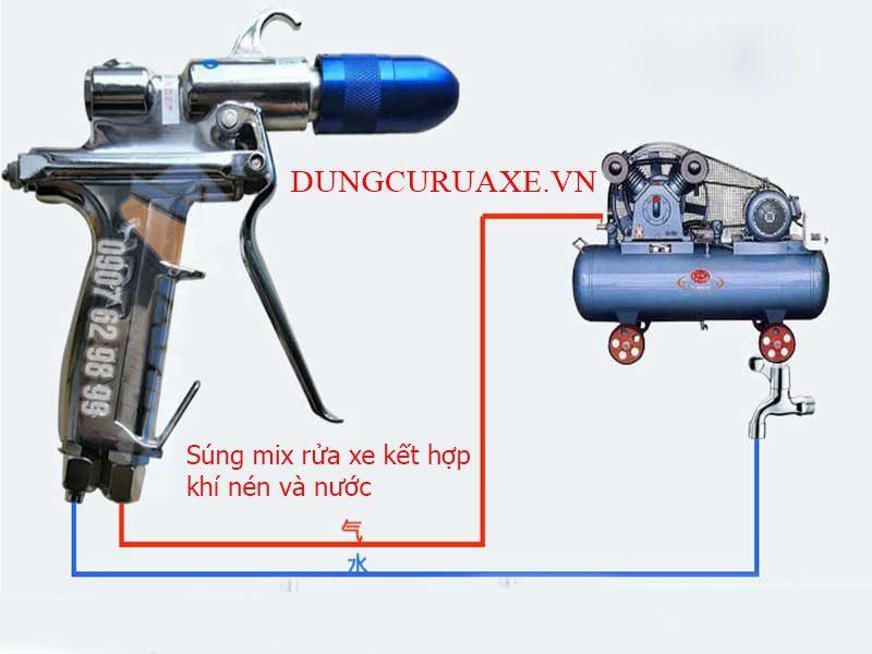 sung-mix-rua-xe-ket-hop-khi-nen-va-nuoc